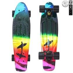 "401G-O Скейтборд Y-SCOO Fishskateboard Print 22"" винил 56,6х15 с сумкой Offshore"