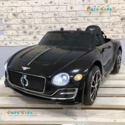 Электромобиль Bentley EXP12 JE1166 черный (колеса резина, кресло кожа, пульт, музыка)