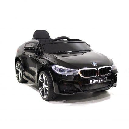 Электромобиль BMW 6 GT JJ2164 черный (колеса резина, кресло кожа, пульт, музыка)