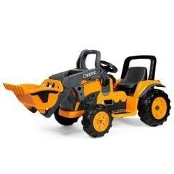 Электромобиль- трактор Peg-Perego John Deere Construction Loader (скорость до 7,3 км/ч, тележка)